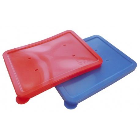 Couvercle silicone pour assiette rectangulaire