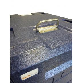 Coffre Isotherme PPE 10 niveaux 40 x 60 BLEU avec poignées inox