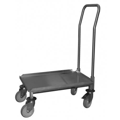 Chariot Inox avec timon pour coffre GN 1/1